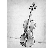 Violin in Black and White Photographic Print