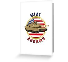 M1A1 Abrams  Greeting Card