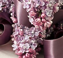 Lilac And Ribbon Curls by Sandra Foster