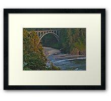 Bridge off the Pacific Framed Print