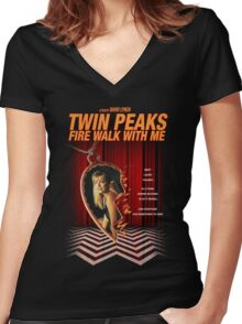 Twin Peaks: Fire Walk With Me Women's Fitted V-Neck T-Shirt