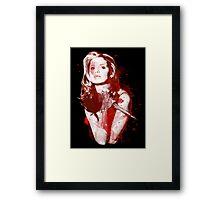 Splatter Buffy Framed Print