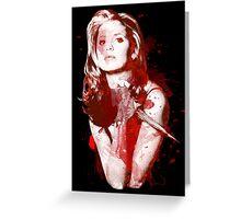 Splatter Buffy Greeting Card