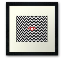 Twin Peaks - Black Lodge Framed Print