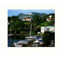 An inlet in Castries St. Lucia Art Print