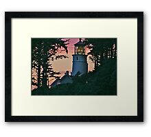 Heceta at Sunset Framed Print