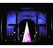 Grand Army Plaza a Night View Photographic Print