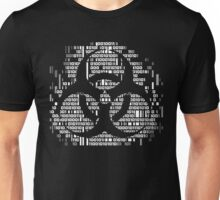 Binary Biohazard Symbol (White) Unisex T-Shirt