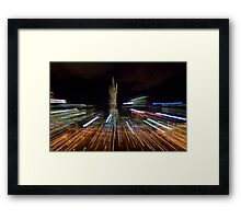 Rush Hour in the City Framed Print