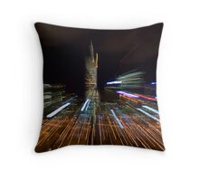 Rush Hour in the City Throw Pillow