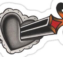 Heart & Dagger Sticker