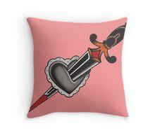 Heart & Dagger Throw Pillow