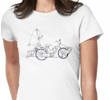 Aqua Bike Womens Fitted T-Shirt