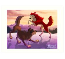 Balto and Jenna Art Print