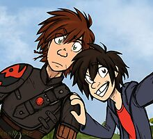 HTTAH - Hiccup and Hiro  by Alyssa  Wong