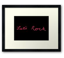 Twin Peaks: Fire Walk With Me - Let's Rock Framed Print