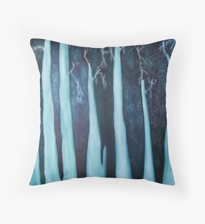 spectral forest Throw Pillow