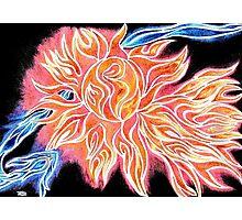 iSun 2 Electric Glowing Sun Rays Abstract Drawing Design Photographic Print
