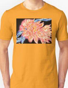 iSun 2 Electric Glowing Sun Rays Abstract Drawing Design T-Shirt