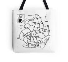 Vintage Brooklyn Map 1957, New York Tote Bag