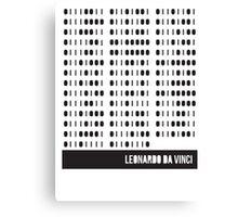 Da Vinci Binary Canvas Print