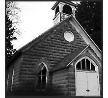 Spooky Church Photographic Print