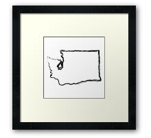 Washington State Framed Print