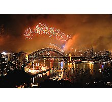 Reflections of New And Old - New Years Eve , Sydney Harbour    Photographic Print