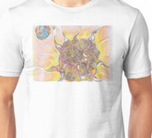 Sun and Earth Abstract Drawing Design Unisex T-Shirt