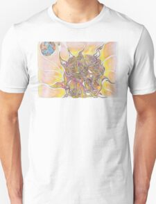 Sun and Earth Abstract Drawing Design T-Shirt