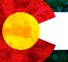 Colorado Chronic Flag Sticker