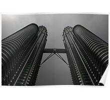 The Petronas Twin Towers, Kuala Lumpur Poster