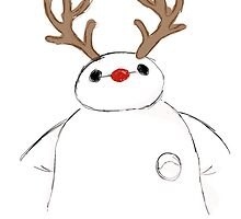baymax as rudolph by hacobcorreia