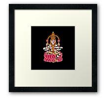 goddess Lakshmi kalamkari black Framed Print