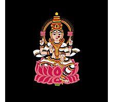 goddess Lakshmi kalamkari black Photographic Print