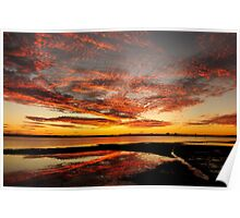 Fire in the Sky - Pumicestone Passage Poster