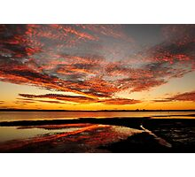 Fire in the Sky - Pumicestone Passage Photographic Print