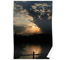 Sunset over Inle Lake, Kengtung, Burma Poster