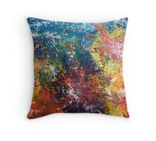 Eruptions out of the blue Throw Pillow