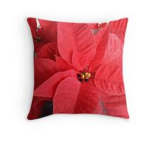 Holiday Poinsettias Throw Pillow