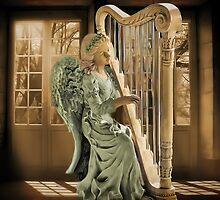 Ƹ̴Ӂ̴Ʒ WINGS OF AN ANGEL PLAYING HARP MUSIC PICTURE,PILLOW, AND OR TOTE BAG Ƹ̴Ӂ̴Ʒ by ✿✿ Bonita ✿✿ ђєℓℓσ