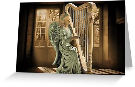 Ƹ̴Ӂ̴Ʒ WINGS OF AN ANGEL PLAYING HARP MUSIC PICTURE,PILLOW, AND OR TOTE BAG Ƹ̴Ӂ̴Ʒ by ✿✿ Bonita ✿✿ ђєℓℓσ