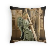 Ƹ̴Ӂ̴Ʒ WINGS OF AN ANGEL PLAYING HARP MUSIC PICTURE,PILLOW, AND OR TOTE BAG Ƹ̴Ӂ̴Ʒ Throw Pillow