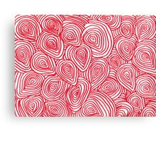 Red Abstract Shapes Canvas Print