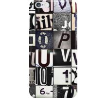 Instagram Alphabet Collection #6 iPhone Case/Skin