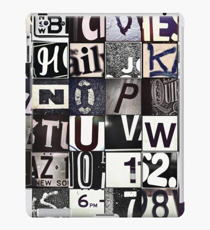 Instagram Alphabet Collection #6 iPad Case/Skin