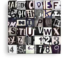 Instagram Alphabet Collection #6 Canvas Print