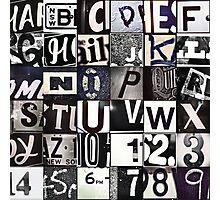 Instagram Alphabet Collection #6 Photographic Print