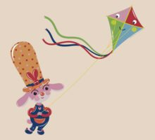 Bunny with Kite by Lyuda