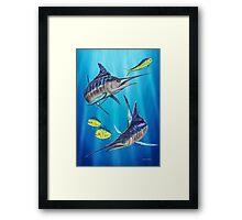 Double Trouble - Striped Marlin & Mahi Mahi Framed Print